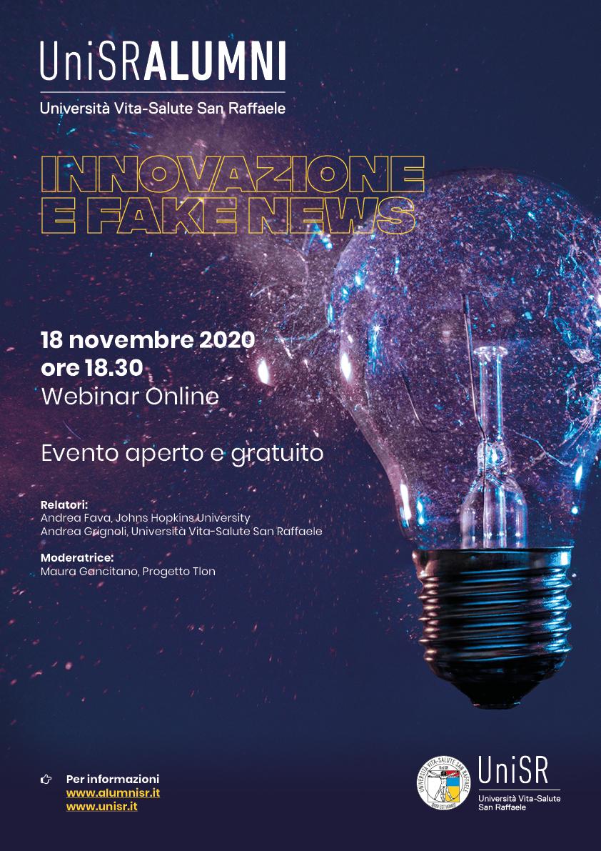 Locandina Innovazione e Fake News alumni